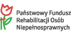 Logo Państwowego Funduszu Rehabilitacji Osób Niepełnosprawnych.